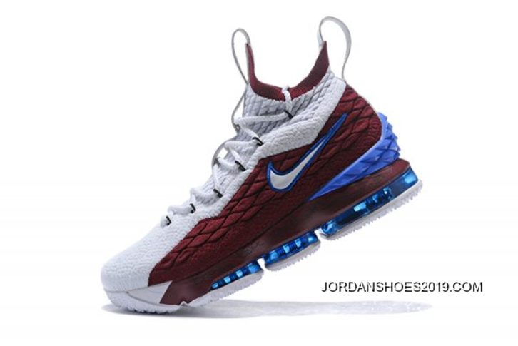 "premium selection 4fce6 bb3dd Nike LeBron 15 ""First Game AZG"" Cavs White Red Blue Big Deals"