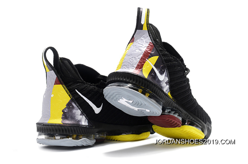 official photos 9913d da1d6 Nike LeBron 16 Black/Yellow-White For Sale