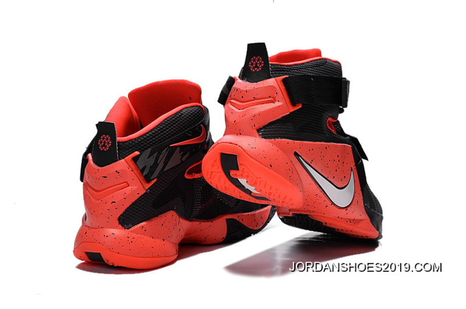 best sneakers ba362 7d66d Nike LeBron Soldier 9 Black Red Basketball Shoe 2019 New Style