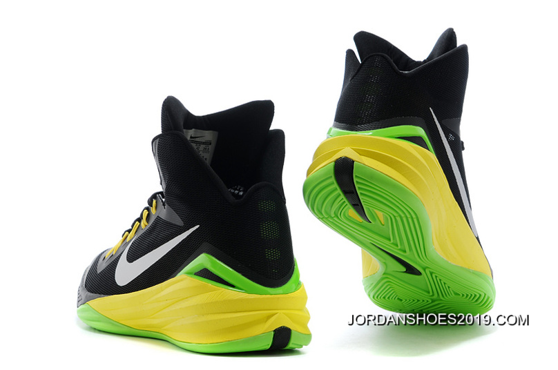 70df529a7a7787 Nike Hyperdunk Black Metallic Silver Electric Green 2019 Free Shipping